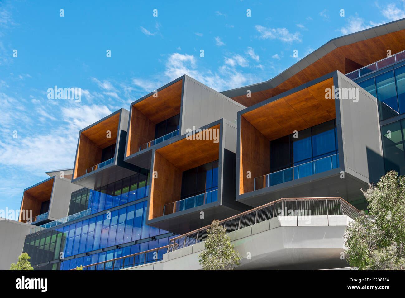 Architettura moderna, il Darling Harbour, Nuovo Galles del Sud, Australia Immagini Stock