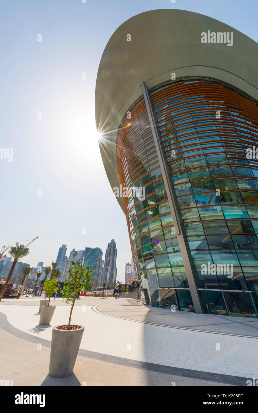 Dubai Opera, Opera, Dubai, Emirati Arabi Uniti Immagini Stock