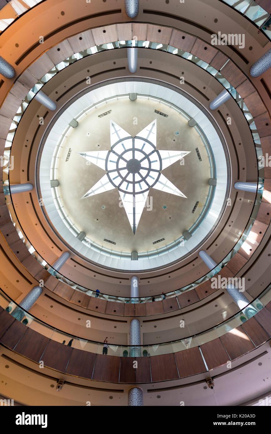 Soffitto, centro commerciale di Dubai, Dubai, Emirati Arabi Uniti Immagini Stock