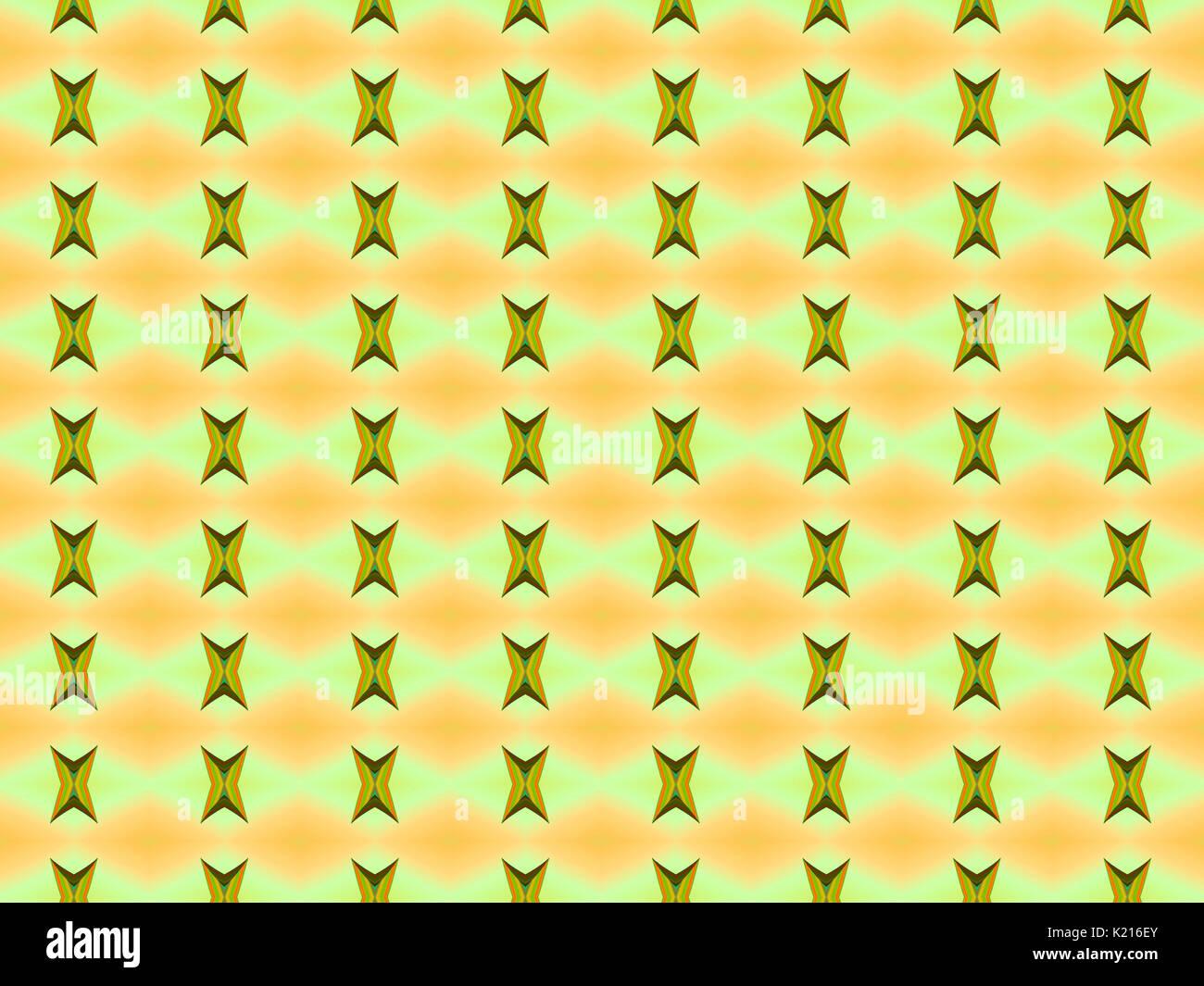 Le strane forme sul giallo e arancione la configurazione di sfondo Immagini Stock
