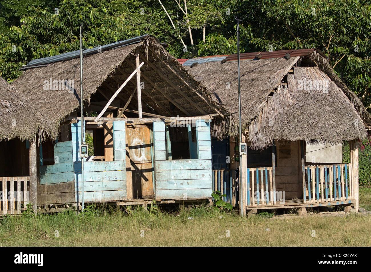 Giugno 6, 2017 Misahualli, Ecuador: piccola dimora in baracche l'area amazzonica Immagini Stock