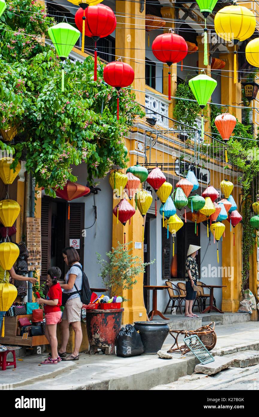Antica città di Hoi An, Vietnam Foto Stock