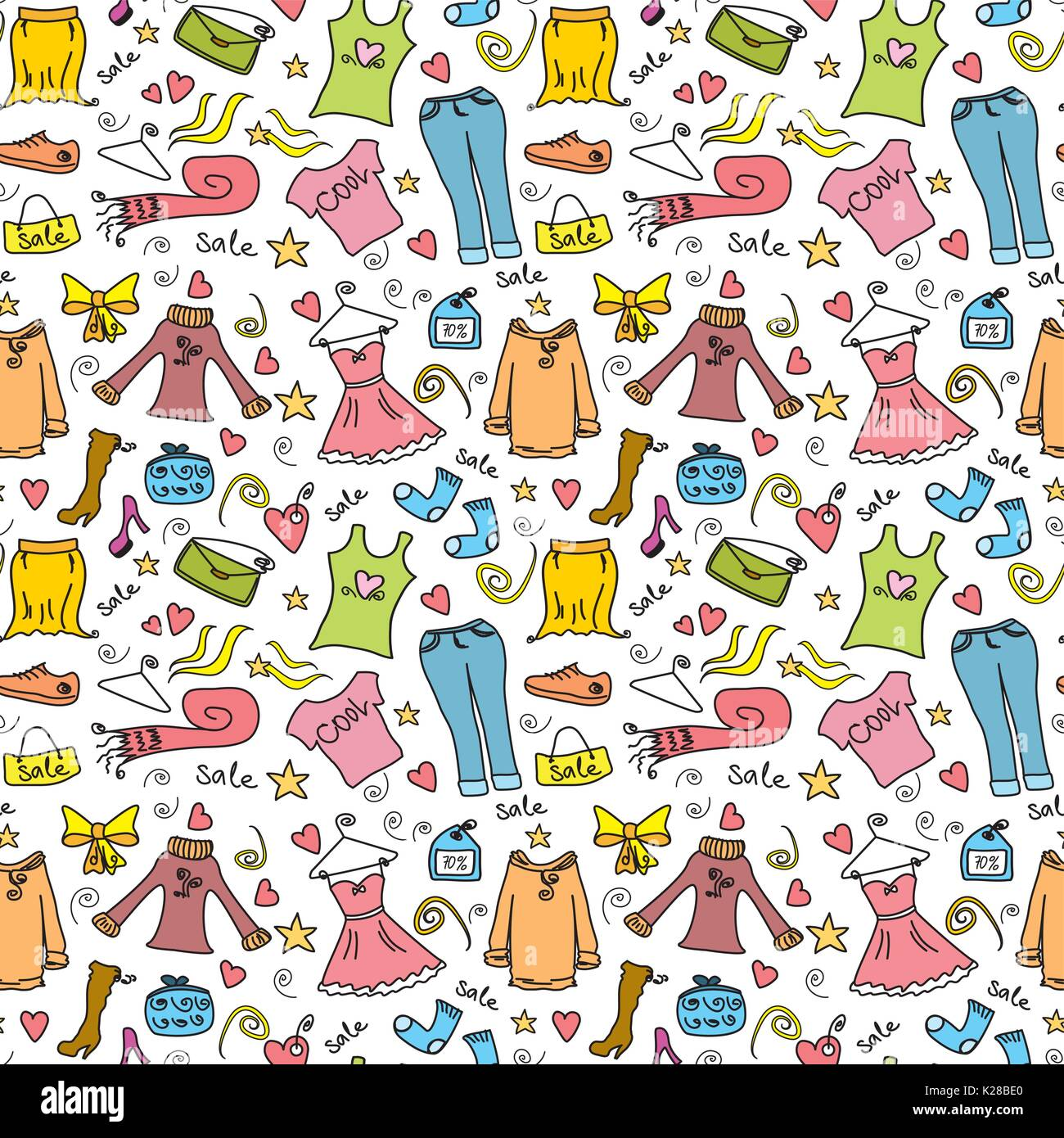 c54edfa98f3a Shopping moda seamless pattern