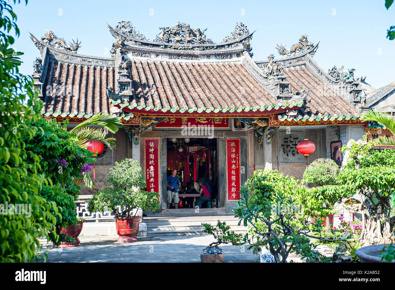 Fukien Congregazione cinese Assembly Hall, Phuoc Kien Hoi Quan, antica città di Hoi An, Vietnam Foto Stock