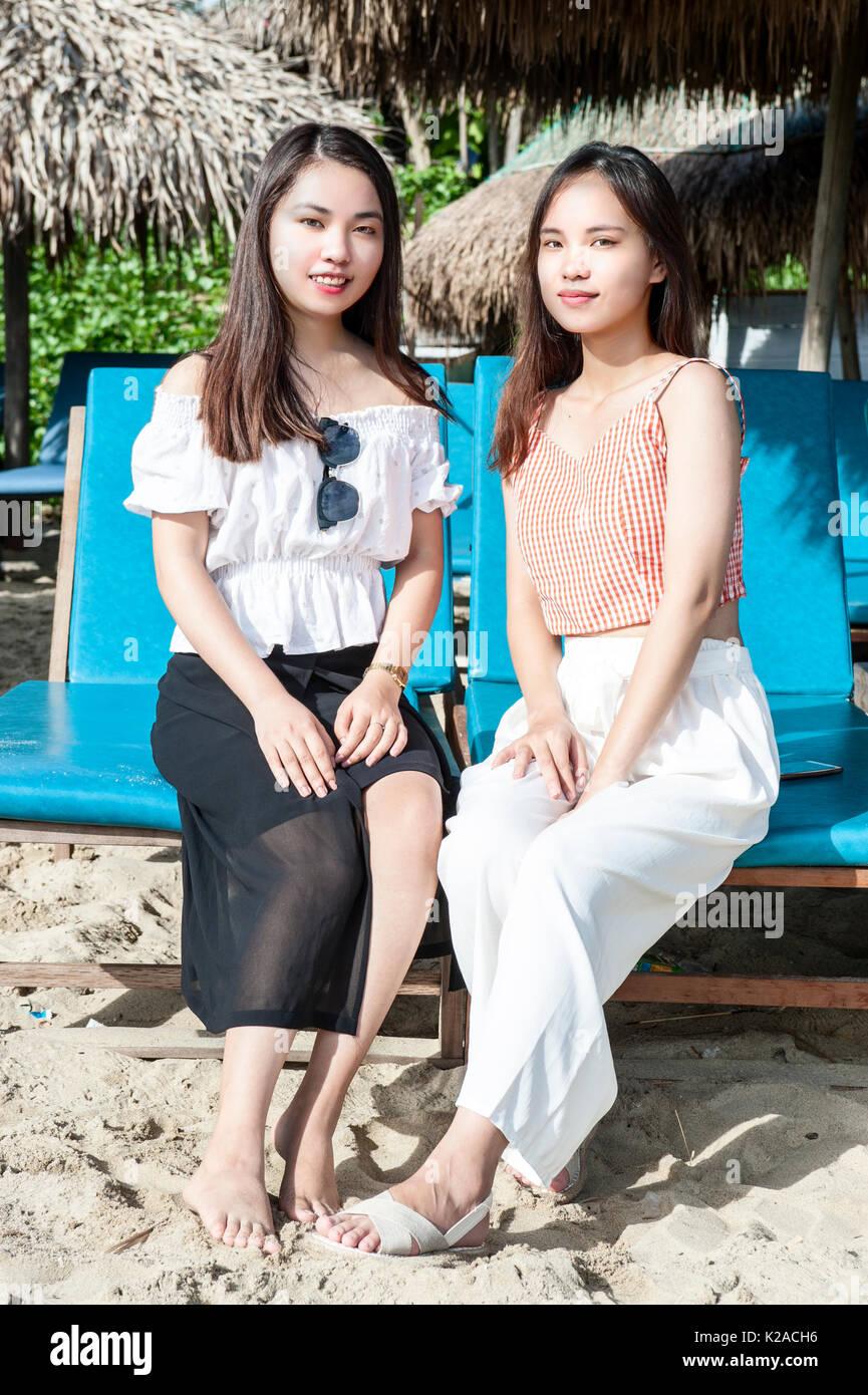 Un Bang Beach, Hoi An, Vietnam Foto Stock