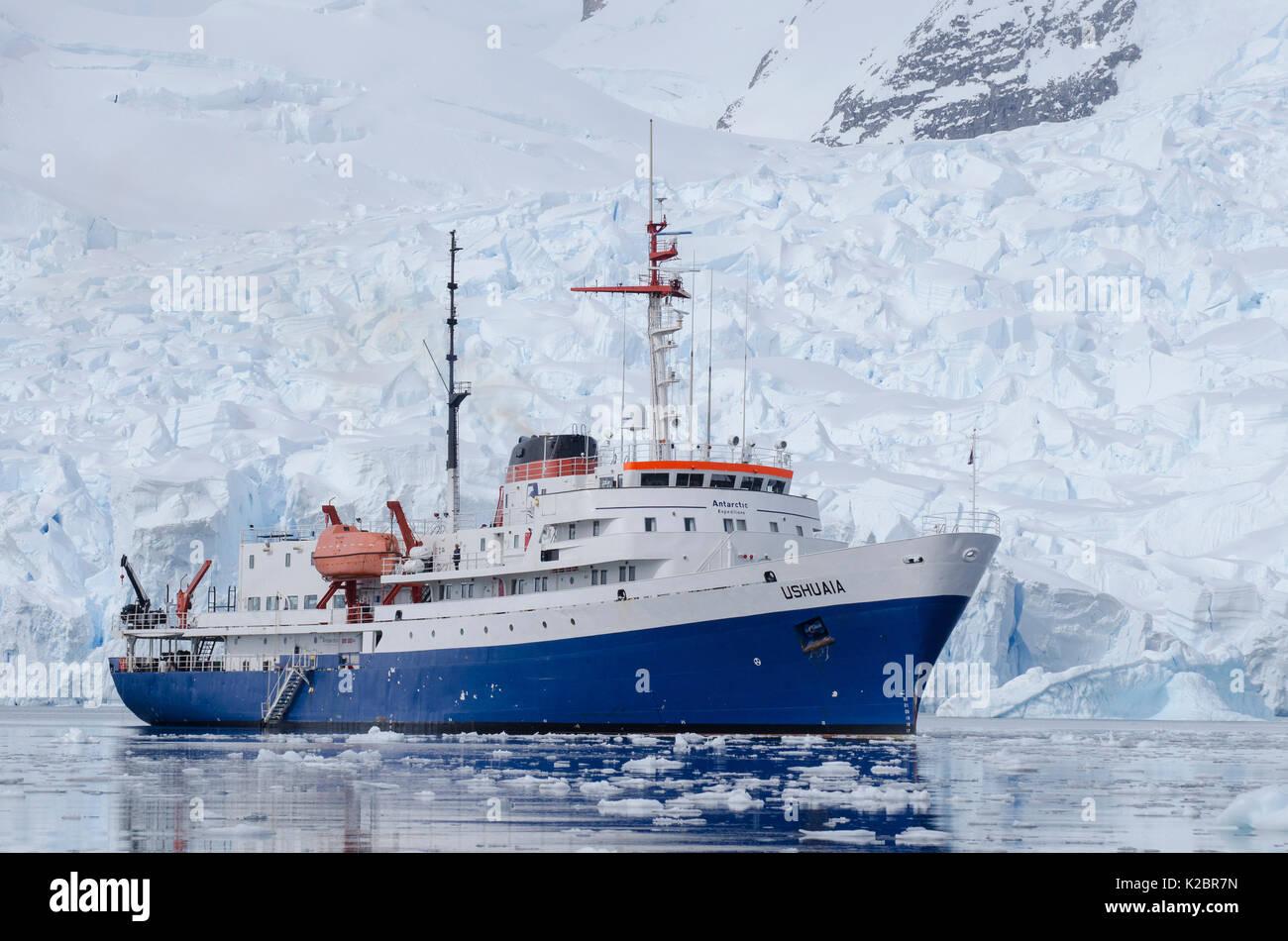 """"""" Ushuaia' Expedition nave, l'Antartide. Novembre 2011. Tutti i non-usi editoriali deve essere eliminato singolarmente. Immagini Stock"""