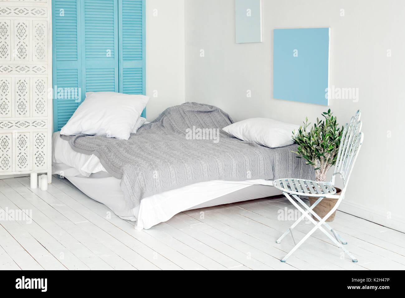 Loft Bianco Interno In Stile Scandinavo Accogliente Area Di