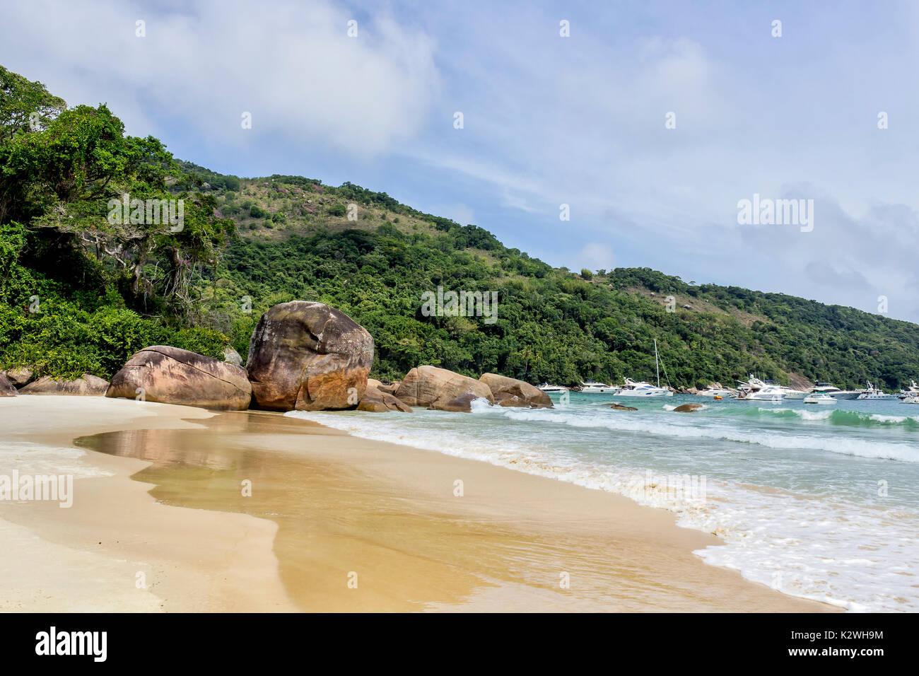 Ilha Grande - Lopes Mendes beach Immagini Stock