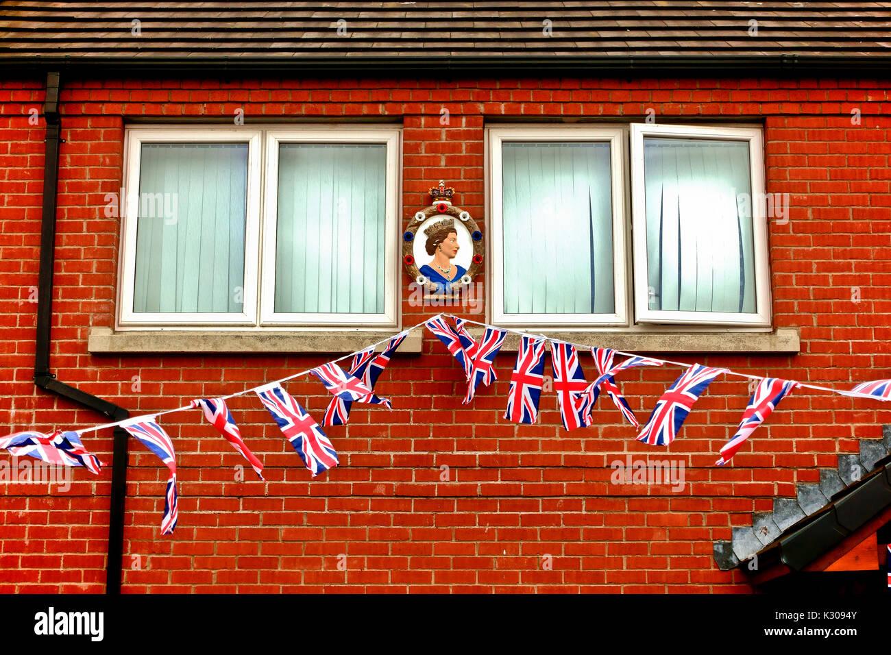 Terrazza Di Una Casa Unionista Decorate Con Union Jack Flag