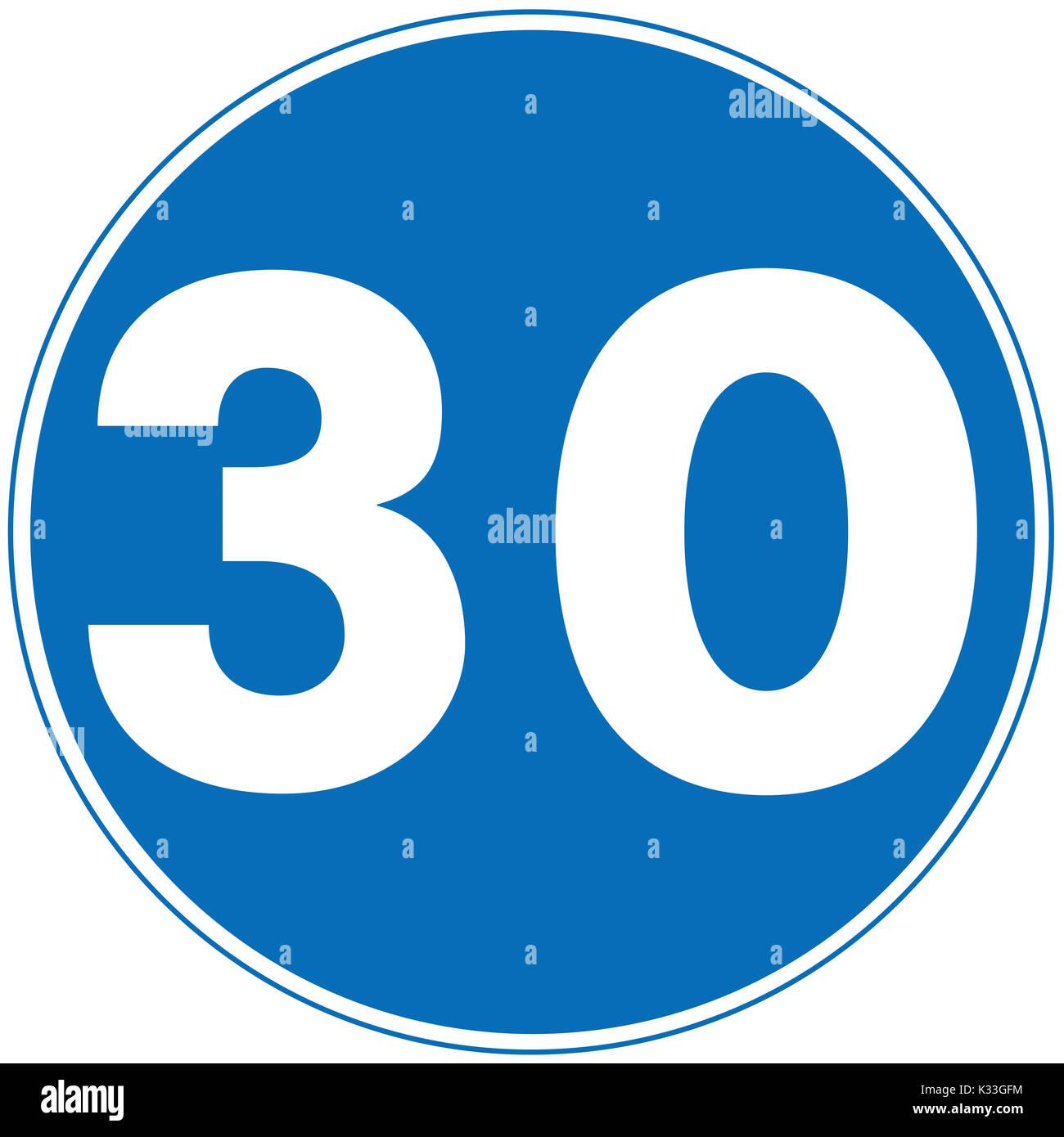 Velocità minima cartello stradale su sfondo bianco Immagini Stock