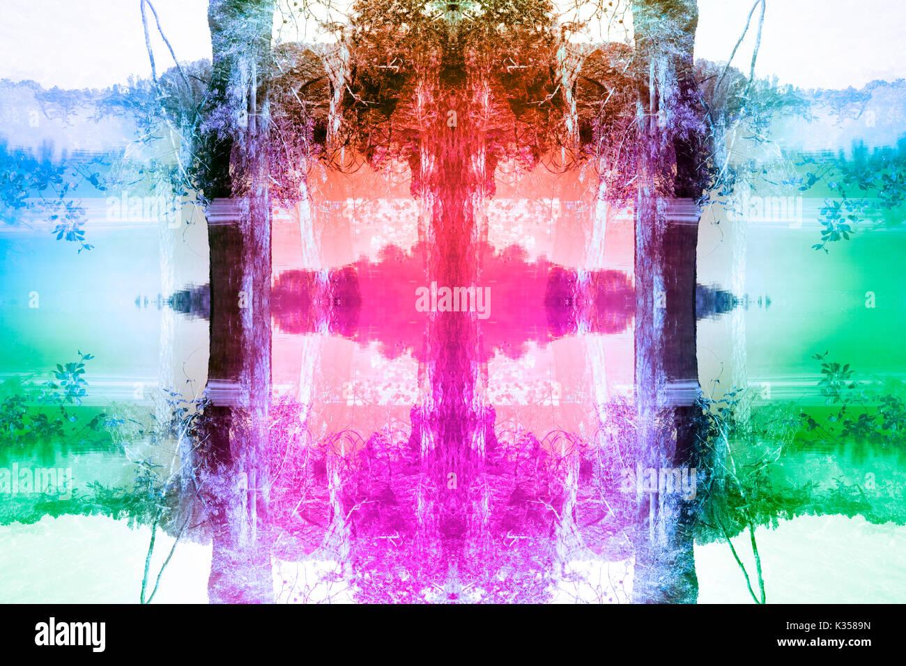 Un sogno colorato astratta immagine di sfondo. Immagini Stock