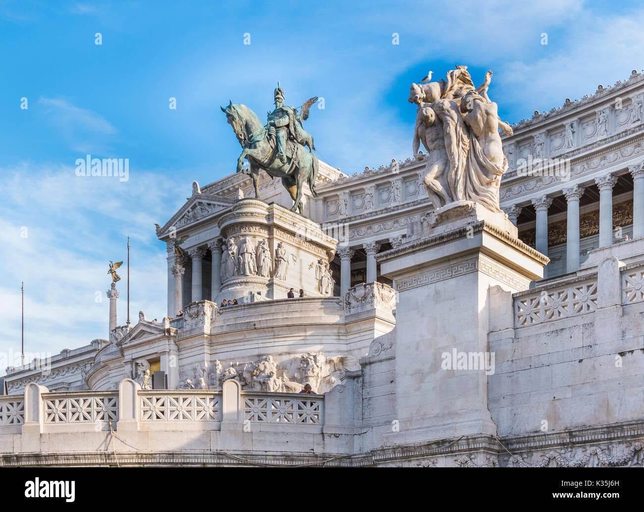Altare della Patria, monumento nazionale a Vittorio Emanuele II, Immagini Stock