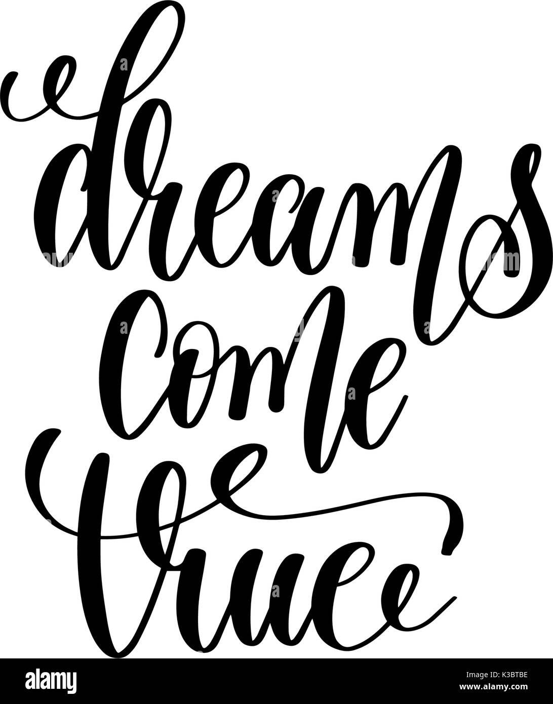 Sogni - bianco e nero scritte a mano iscrizione. Disponibile per qualsiasi  progetto b0ac296bb83