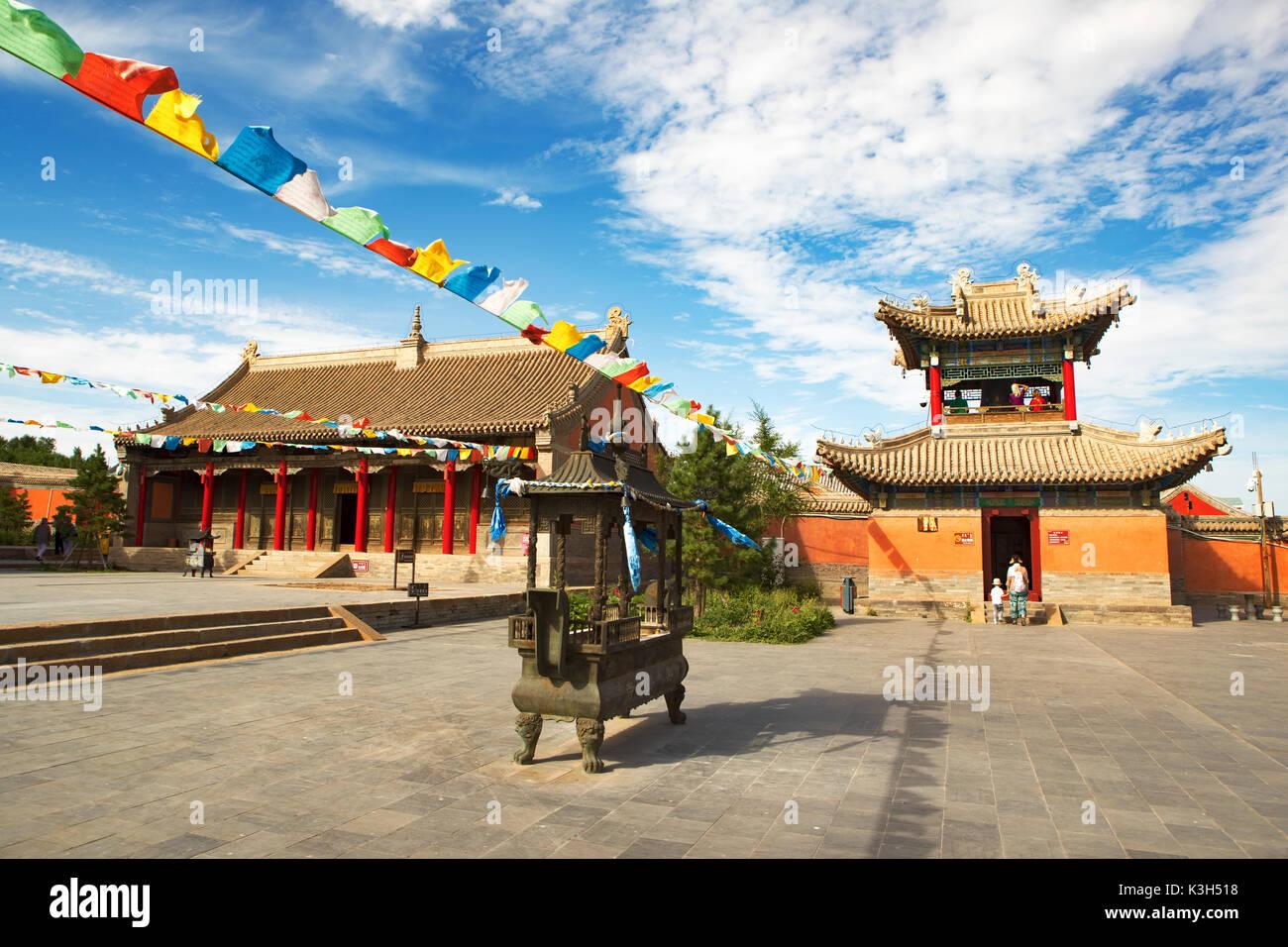 Xilinhot, Mongolia interna, Cina-luglio 23, 2017: beizi tempio è uno dei più grandi lamaseries nella Mongolia interna. Immagini Stock