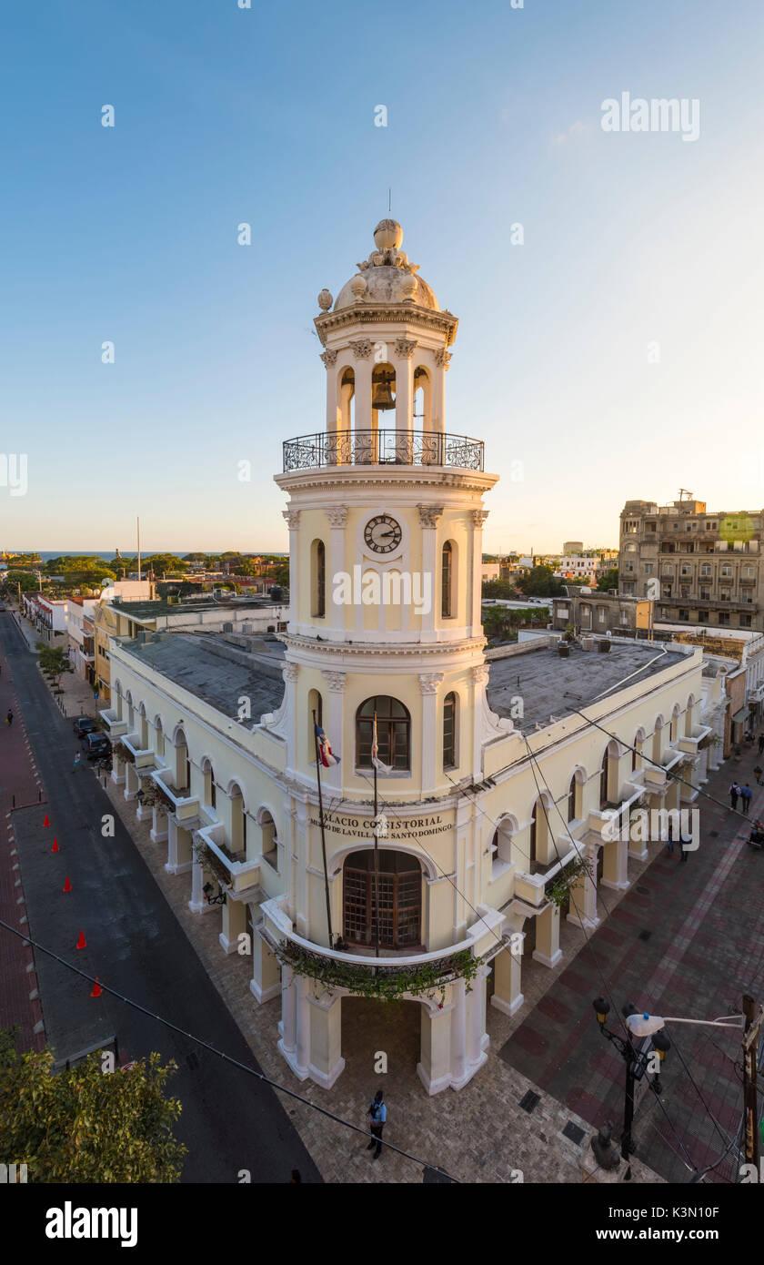 Il Colonial (Ciudad Colonial), Santo Domingo, Repubblica Dominicana. Le architetture coloniali. Immagini Stock