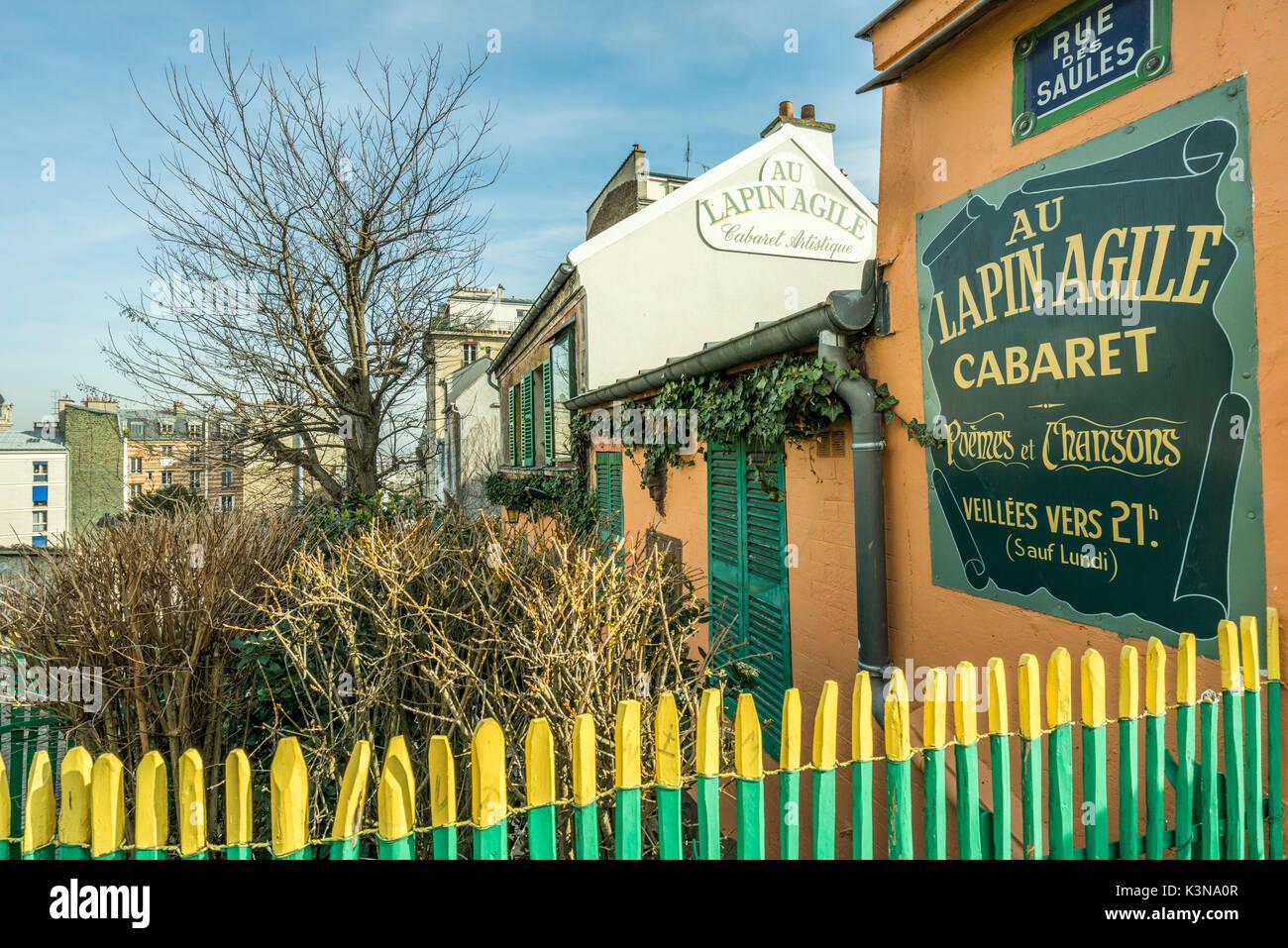 Au Lapin Agile (Agile di coniglio) nightclub di Montmartre. Parigi, Francia Immagini Stock