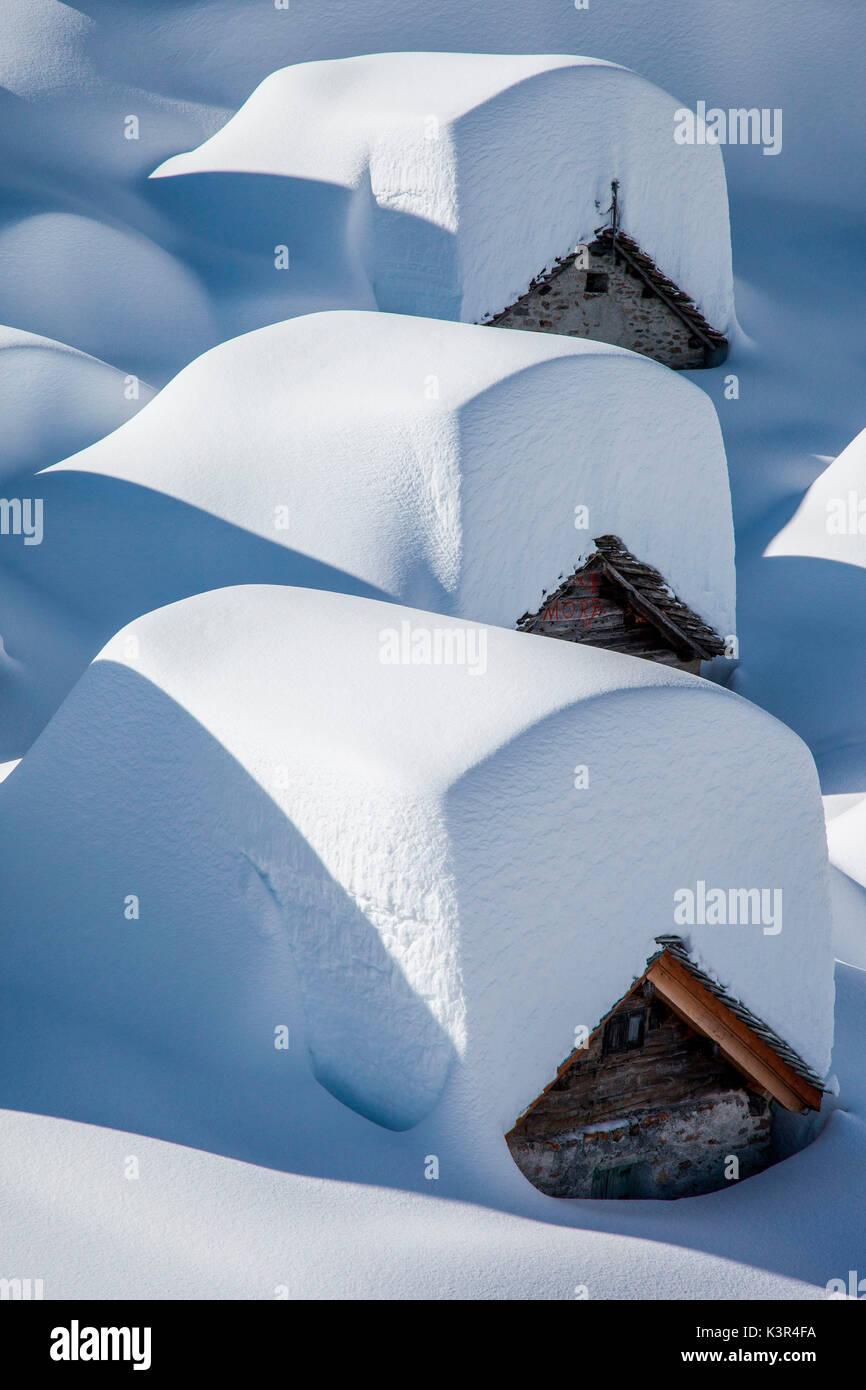 Lendine alp a Chiavenna valley, Drogo valley, Lombardia, Italia, Europa Foto Stock