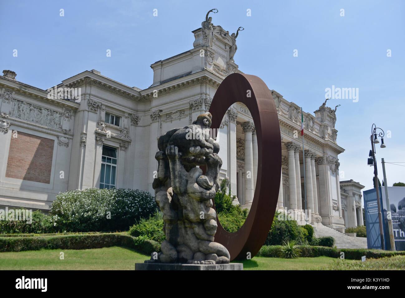Galleria Nazionale d'Arte Moderna (Galleria Nazionale di Arte Moderna) - Roma Immagini Stock