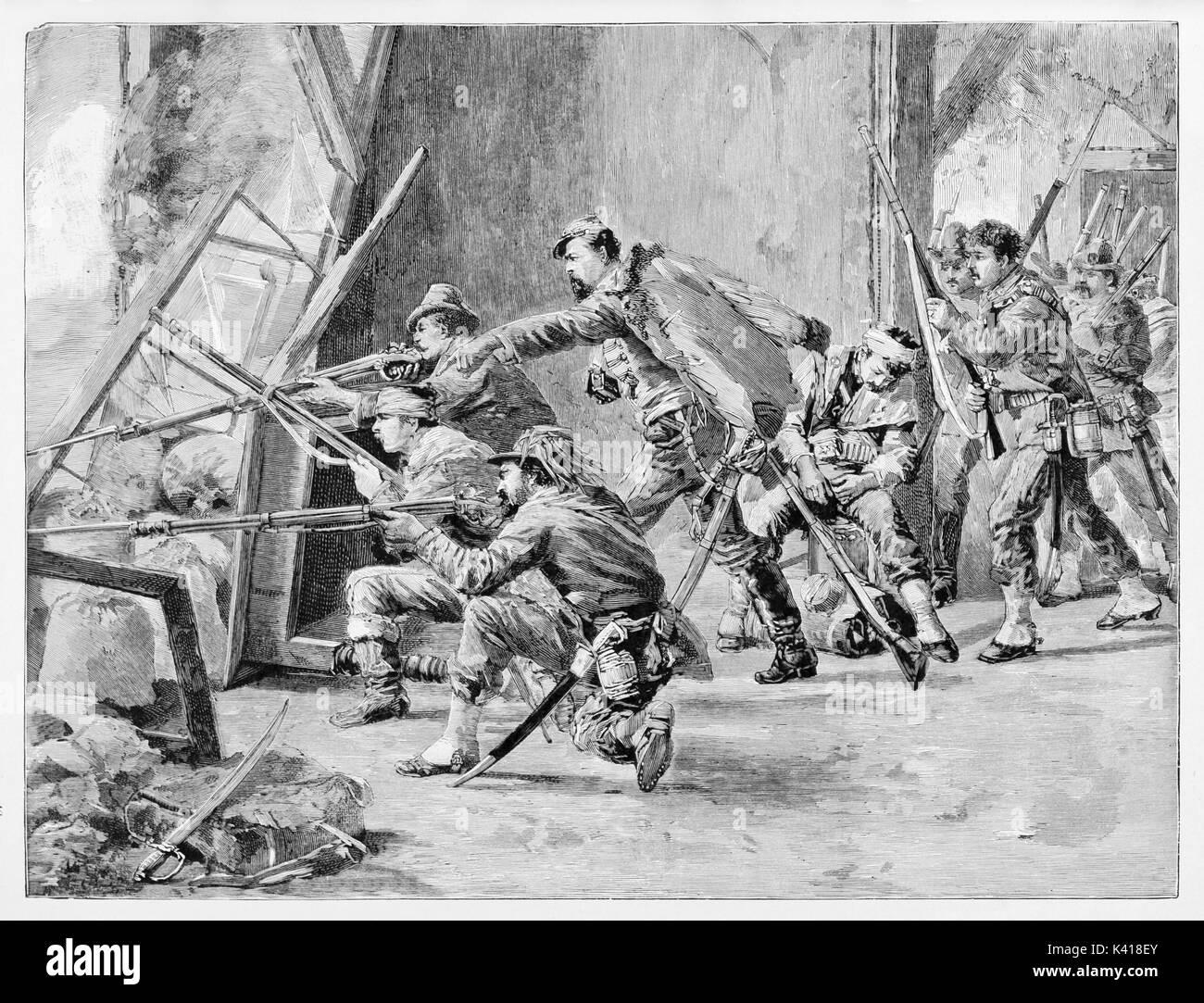 Antica soldati sparare da una finestra in una stanza in rovina. Giacomo Medici  e i suoi 0bf0cb5d2a6c