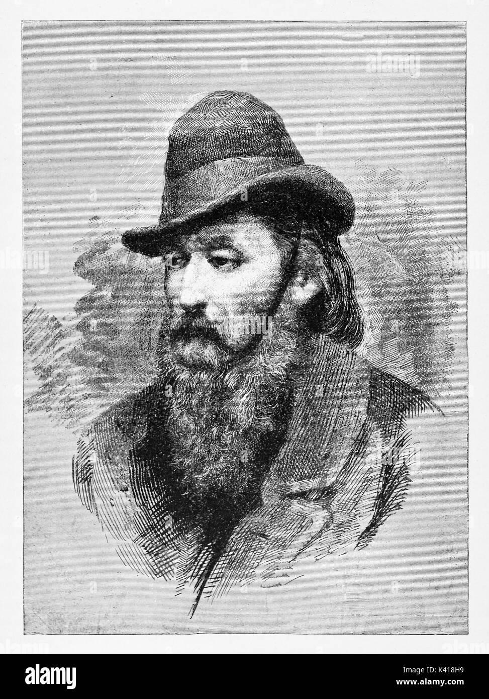Antico mezzo busto ritratto di un uomo vecchio con una lunga barba e un  cappello. Pietro Ripari (1802 - 1885) patriota italiano medico ed uomo  politico. Da ... 6ceecf589814