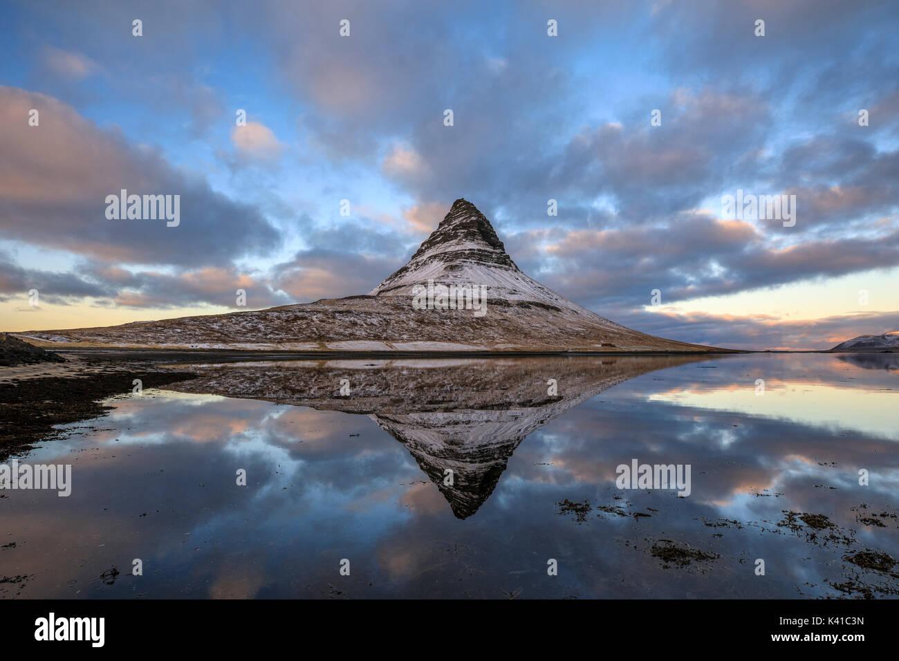 Kirkjufell,Islanda Immagini Stock
