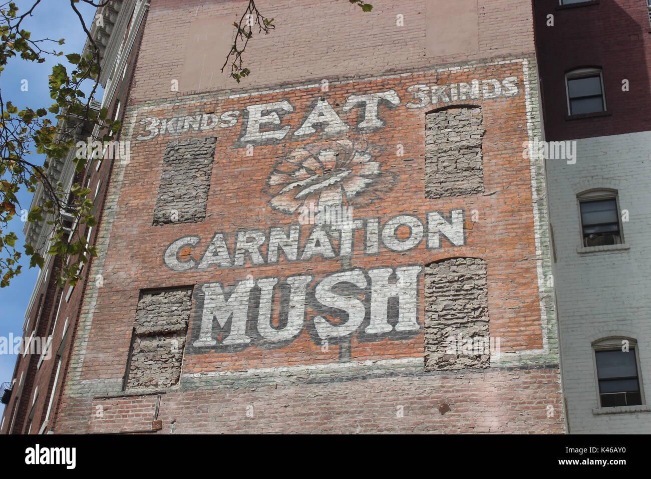 Poltiglia di garofano Ghost segno, San Francisco, California Immagini Stock