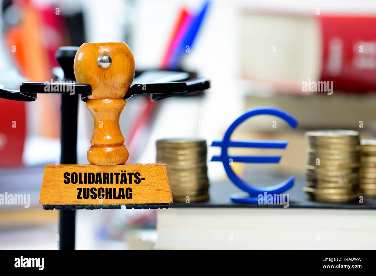La solidarietà imposta bollo Immagini Stock