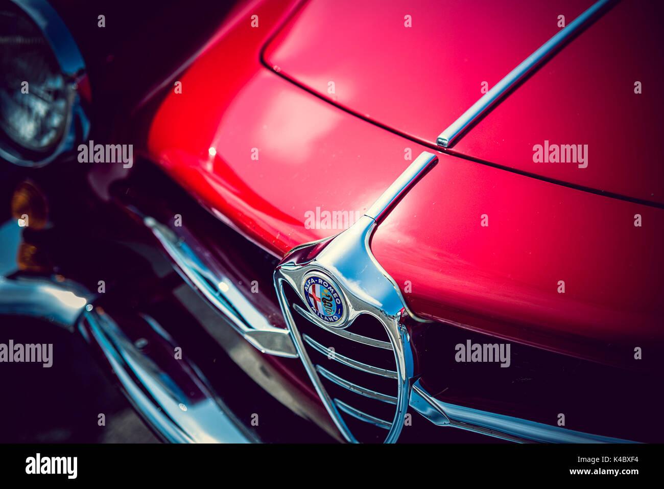 Alfa Romeo Sprint Speciale dettaglio - Classic Car Immagini Stock