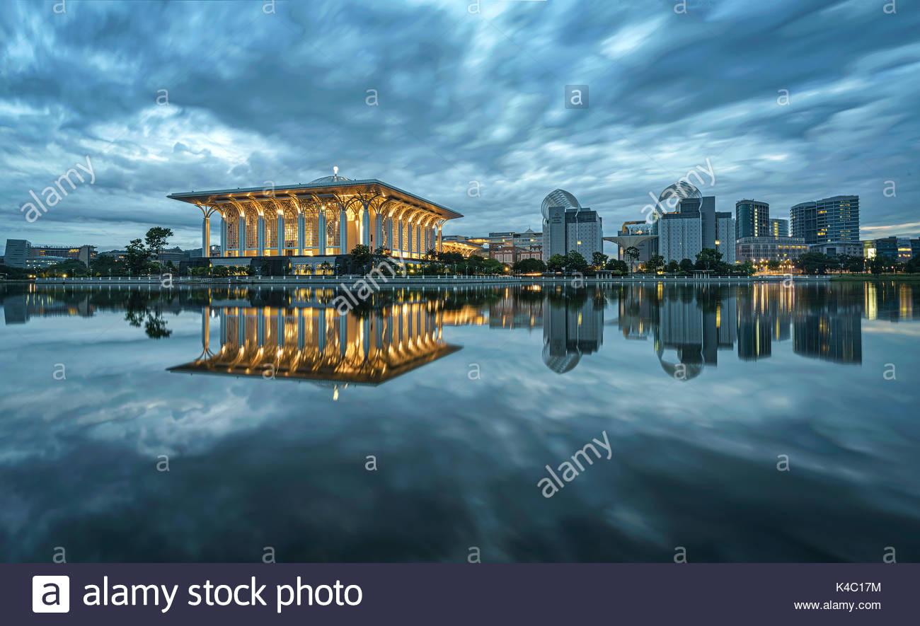 Putrajaya, la tranquilla città Immagini Stock