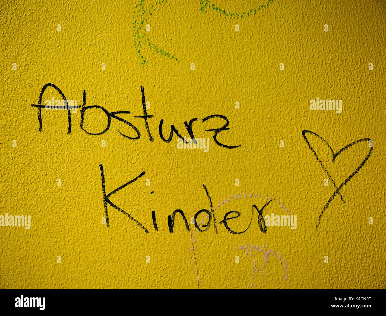 La cultura giovanile, Graffiti Società di confine, infanzia Immagini Stock