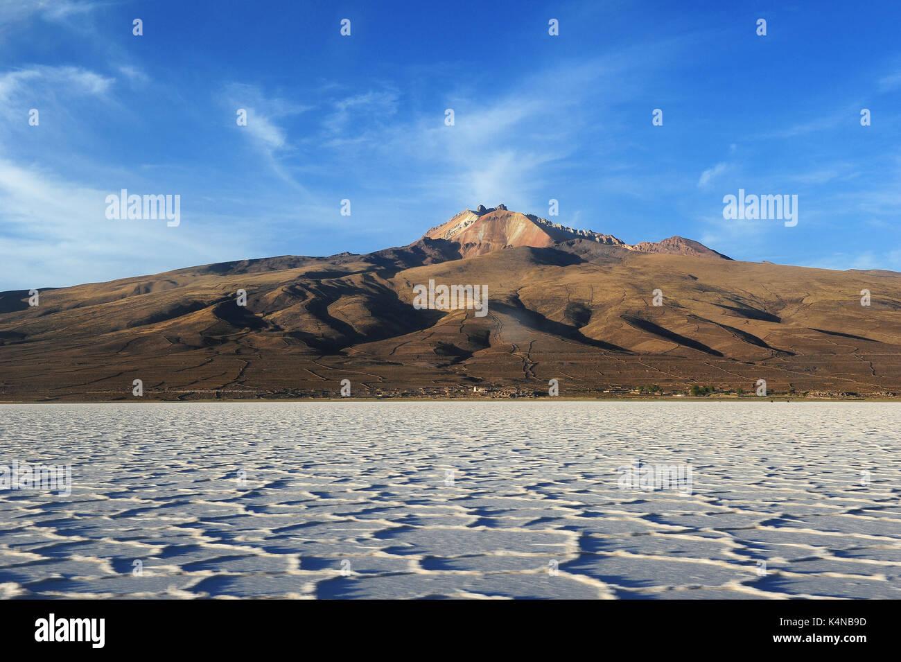 Le saline di Uyuni, Bolivia Immagini Stock
