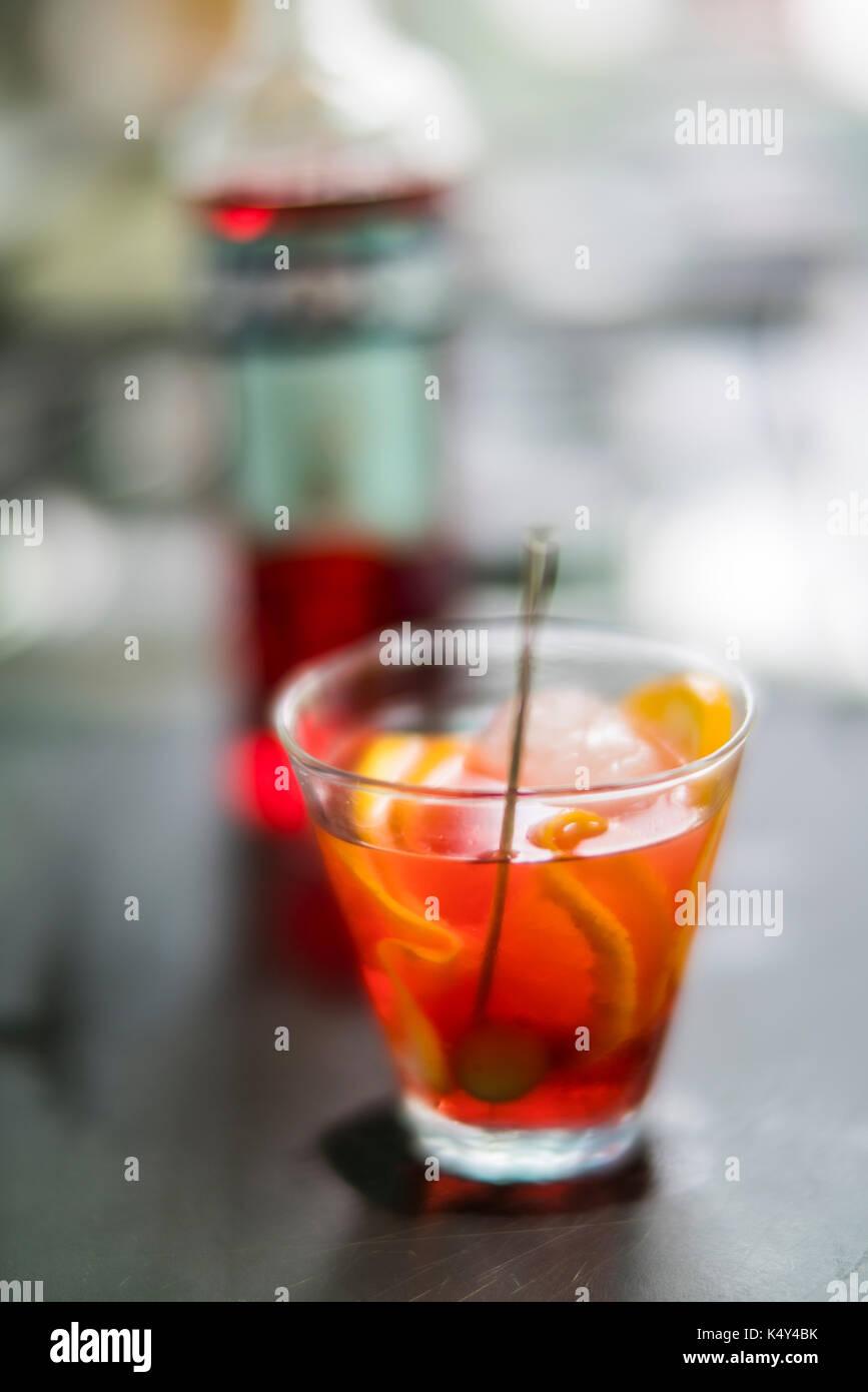 Bicchiere di spritz, Venezia, Italia Immagini Stock