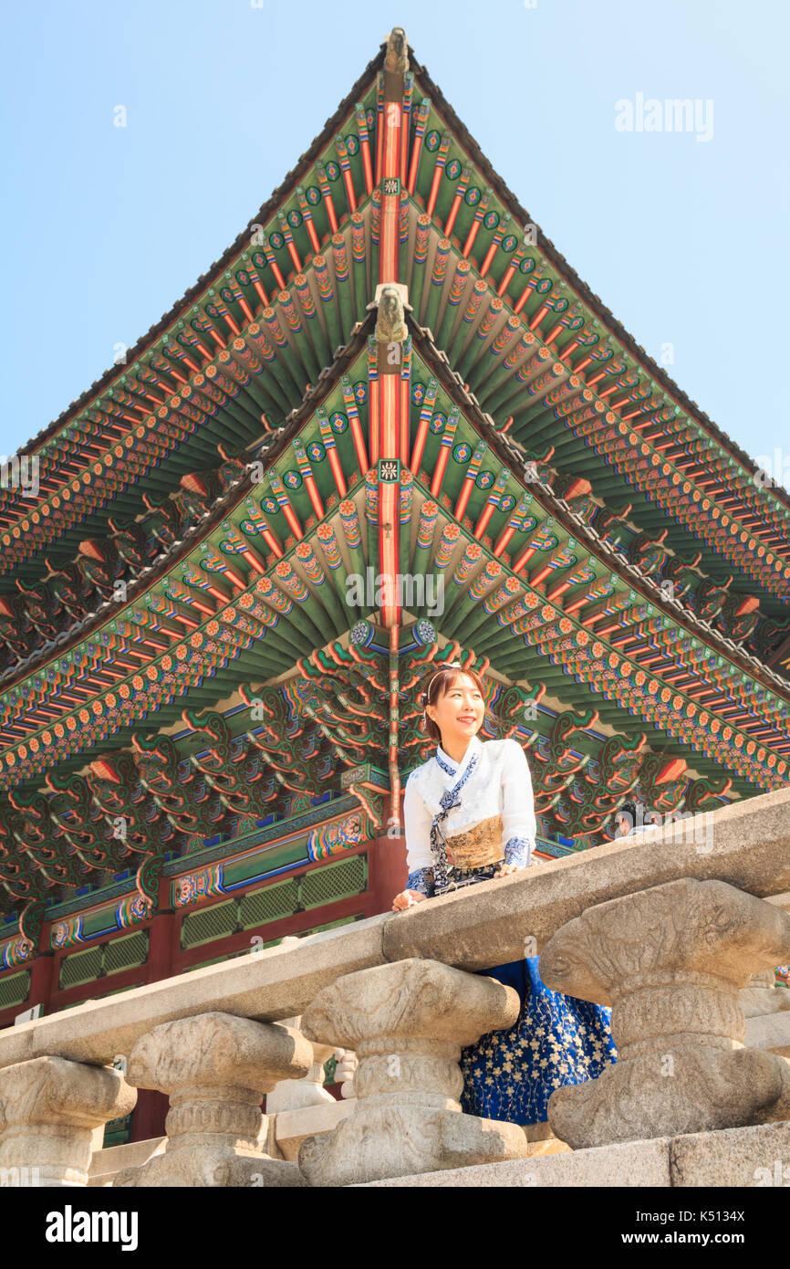 Bella donna coreana vestito hanbok, coreano abito