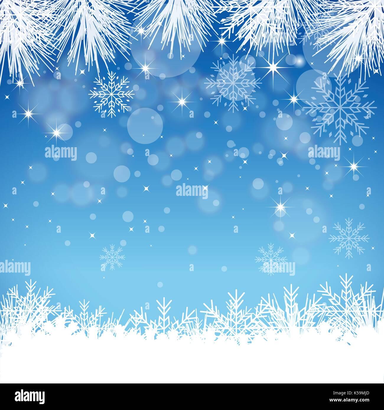 Il simbolo del fiocco di neve sullo sfondo Immagini Stock