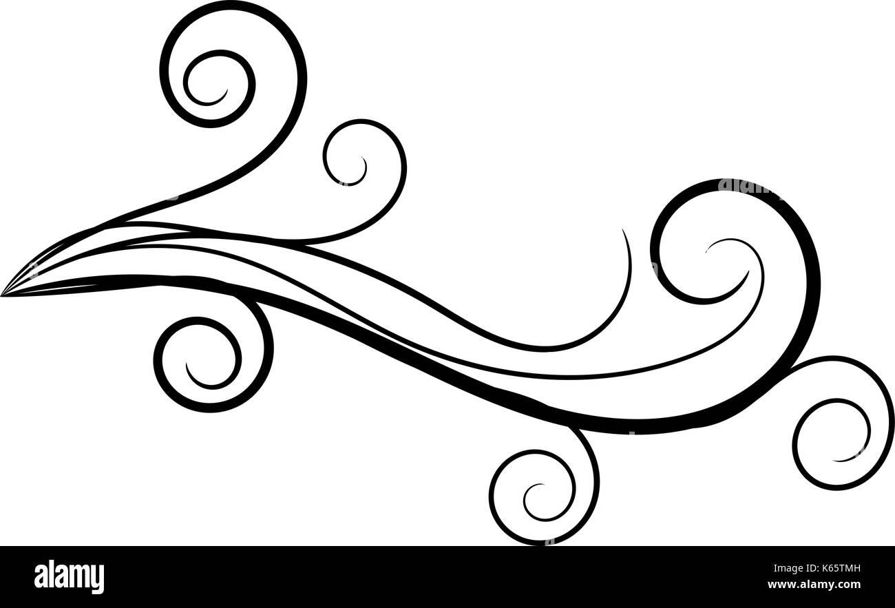 Piuttosto swirly fiorire di ricci Immagini Stock