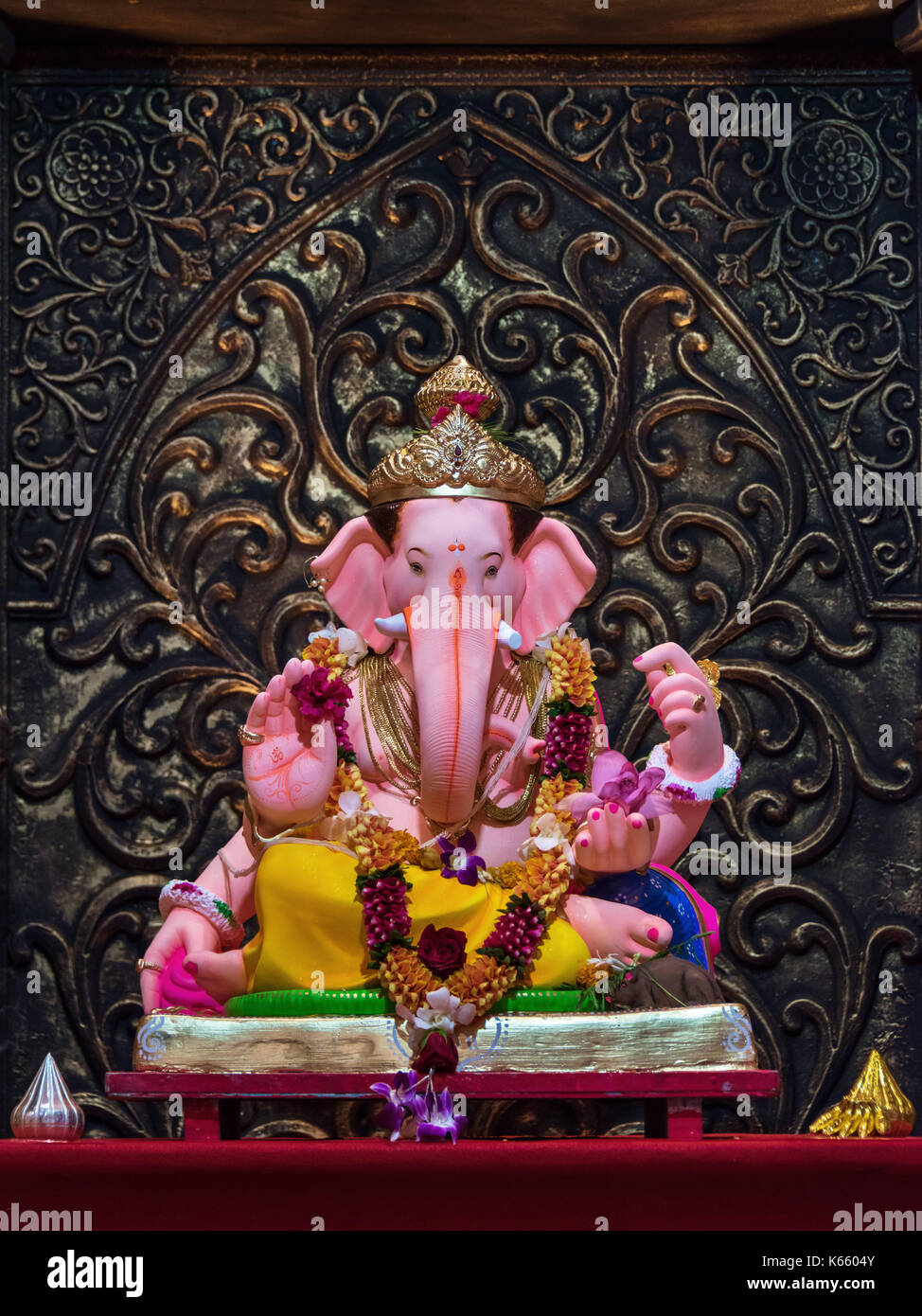 Brahman Sabha, Ganesh Festival 2017, Mumbai, India Immagini Stock