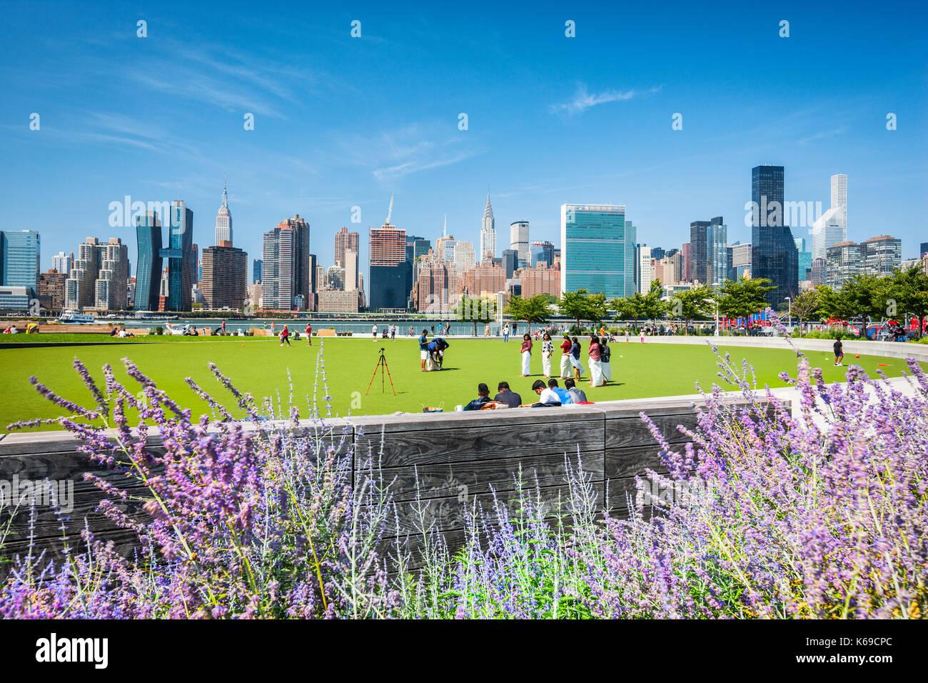 Il cacciatore punto South Park, Queens, a New York City Immagini Stock