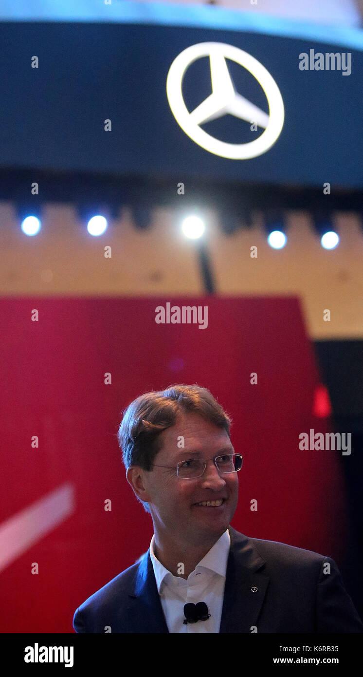 12.09.2017, Messegelände, Francoforte, 67. IAA Pkw Frankfurt/Main, 14. - 24. Settembre 2017 , im Bild Pressekonferenz Foto Stock