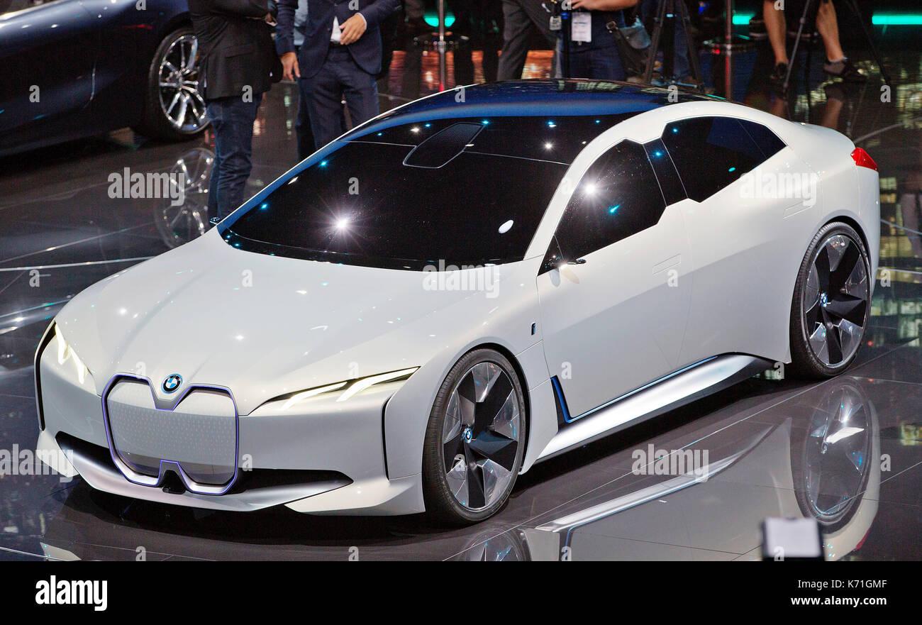 Concept car BMWi vision dynamics è stato presentato durante il 67th International Motor Show (IAA) di Francoforte, Germania, martedì, settembre 12th, 2017. (CT Immagini Stock