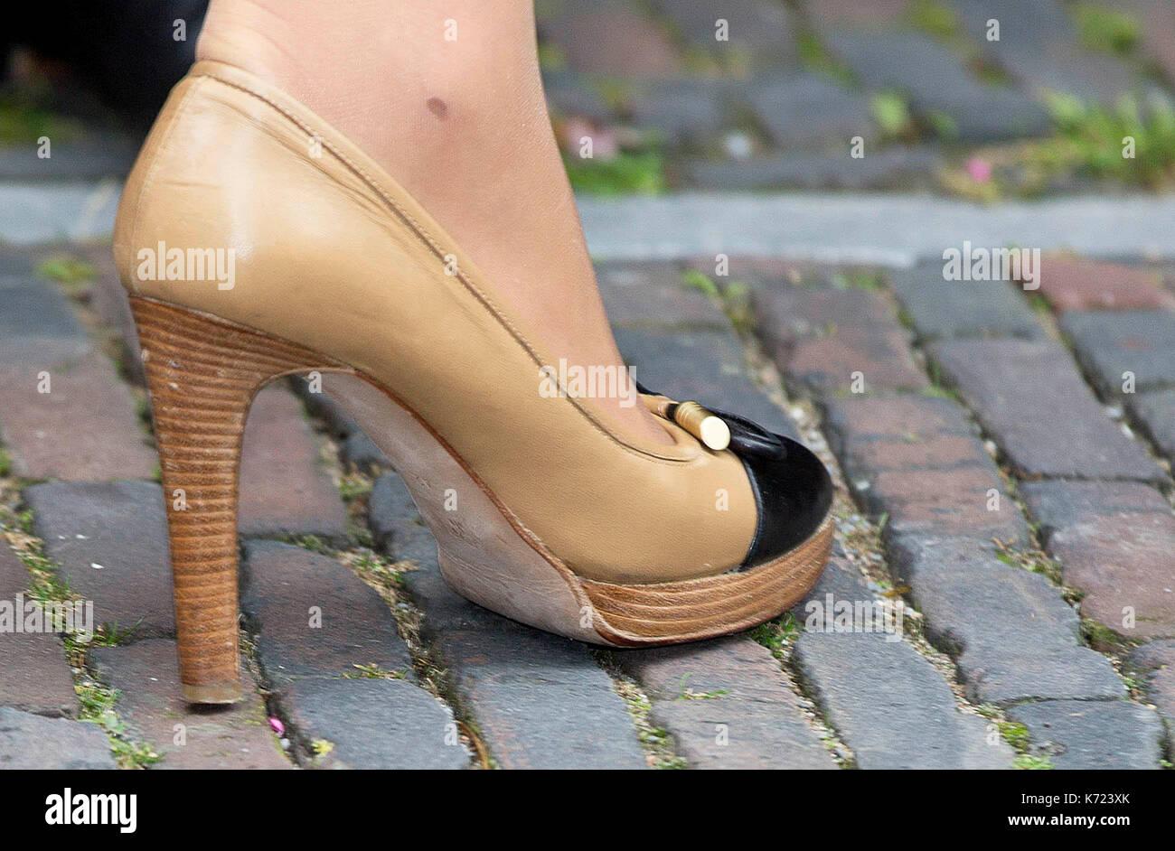size 40 a47db 34c5b Leiden, Paesi Bassi. Xiv Sep, 2017. Le scarpe della regina ...