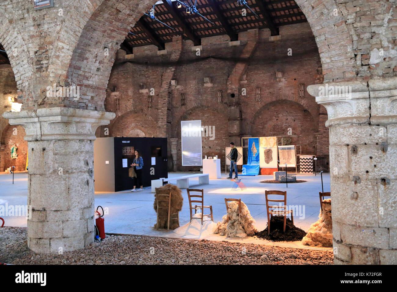 Biennale - premio Arte Laguna 2017 allâ Arsenale di Venezia Immagini Stock