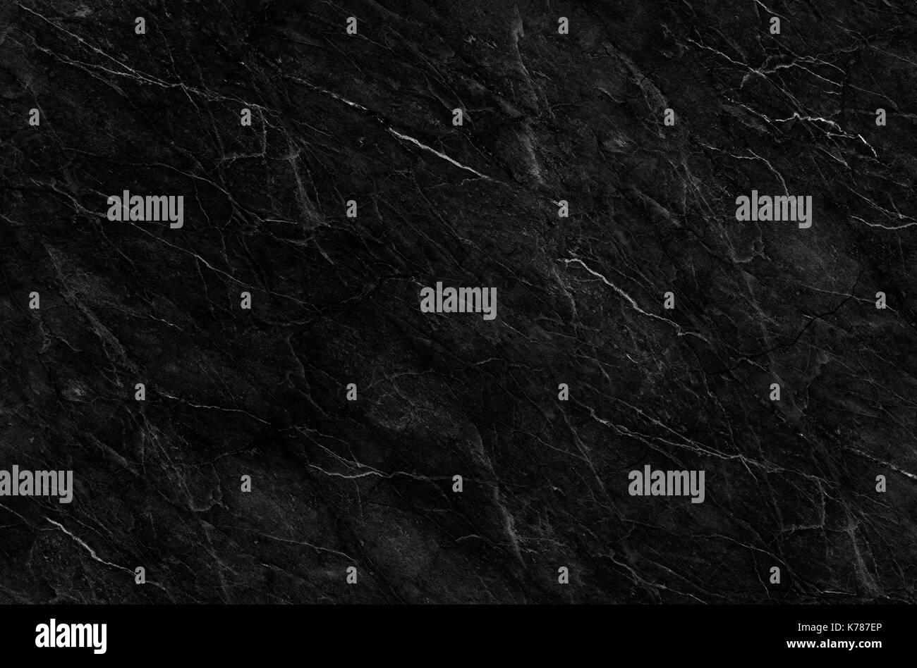Marmo Nero modello naturale per lo sfondo, astratta in bianco e nero, texture granito Foto Stock