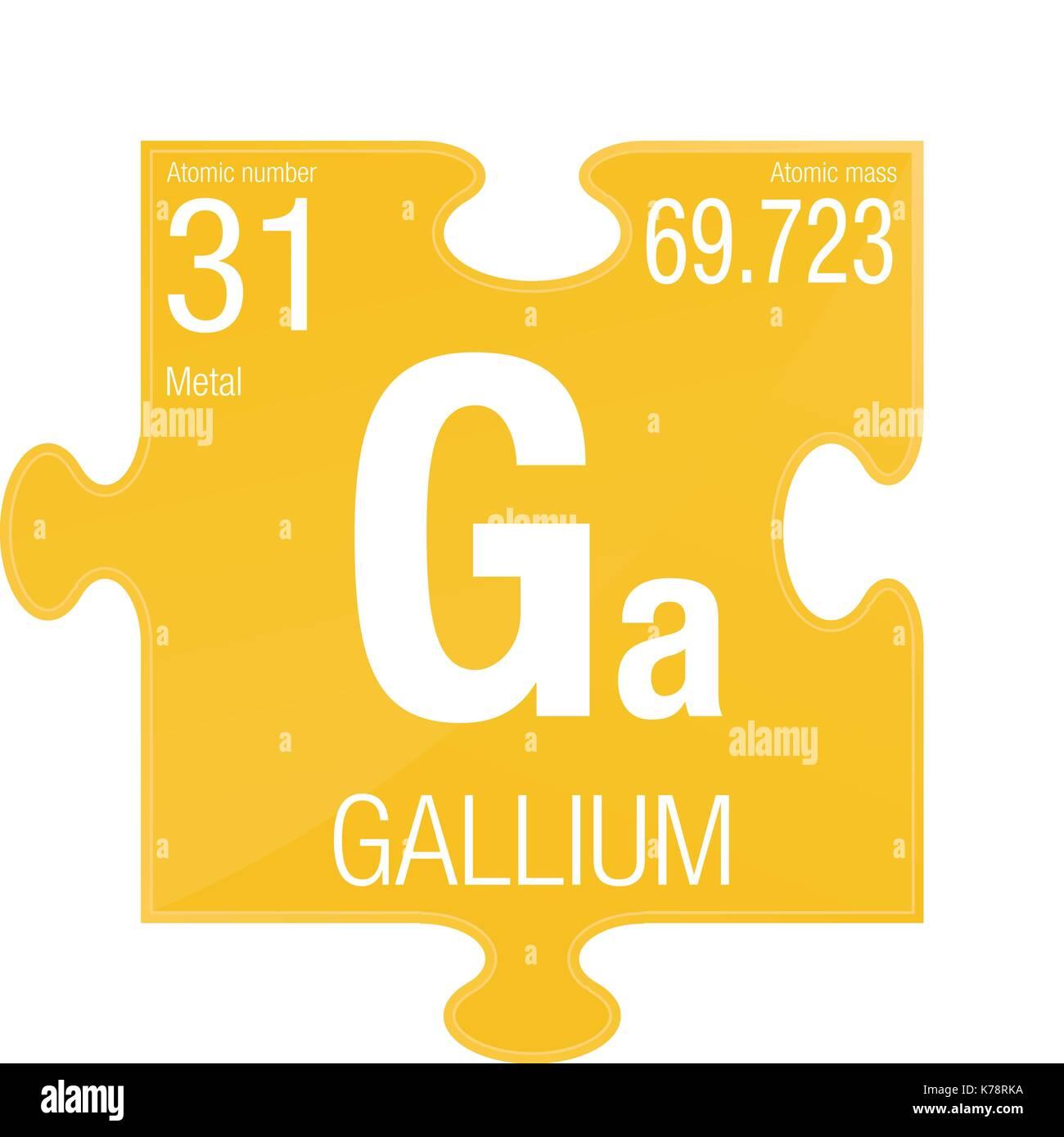 simbolo-di-gallio-elemento-numero-31-del