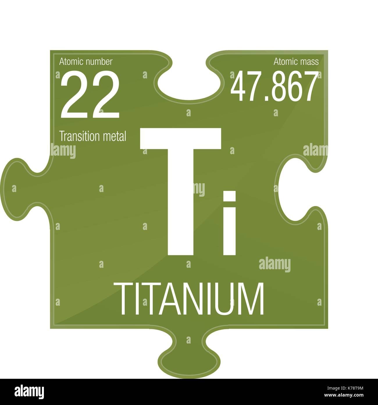 simbolo-di-titanio-elemento-numero-22-de