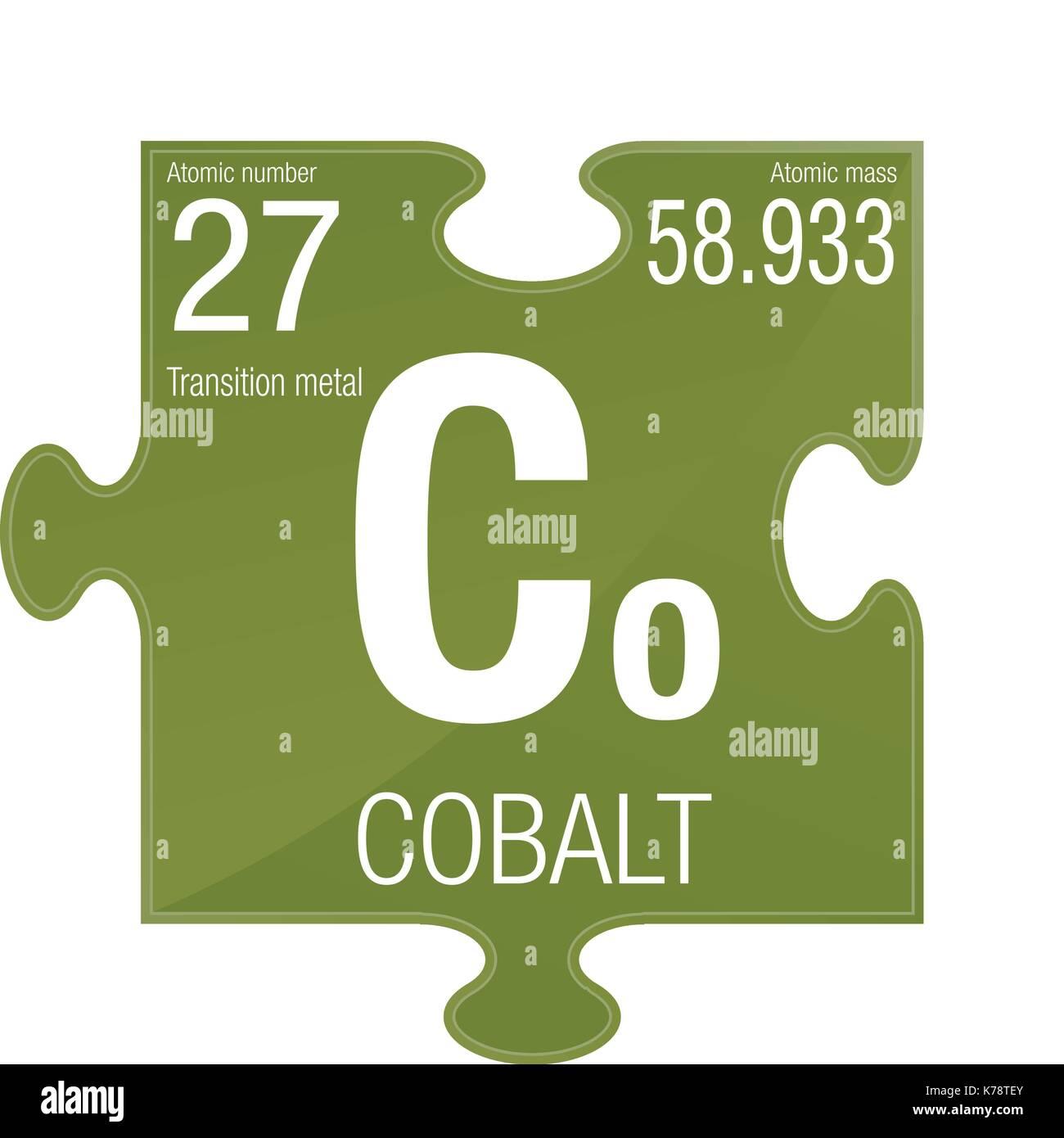 simbolo-di-cobalto-elemento-numero-27-de