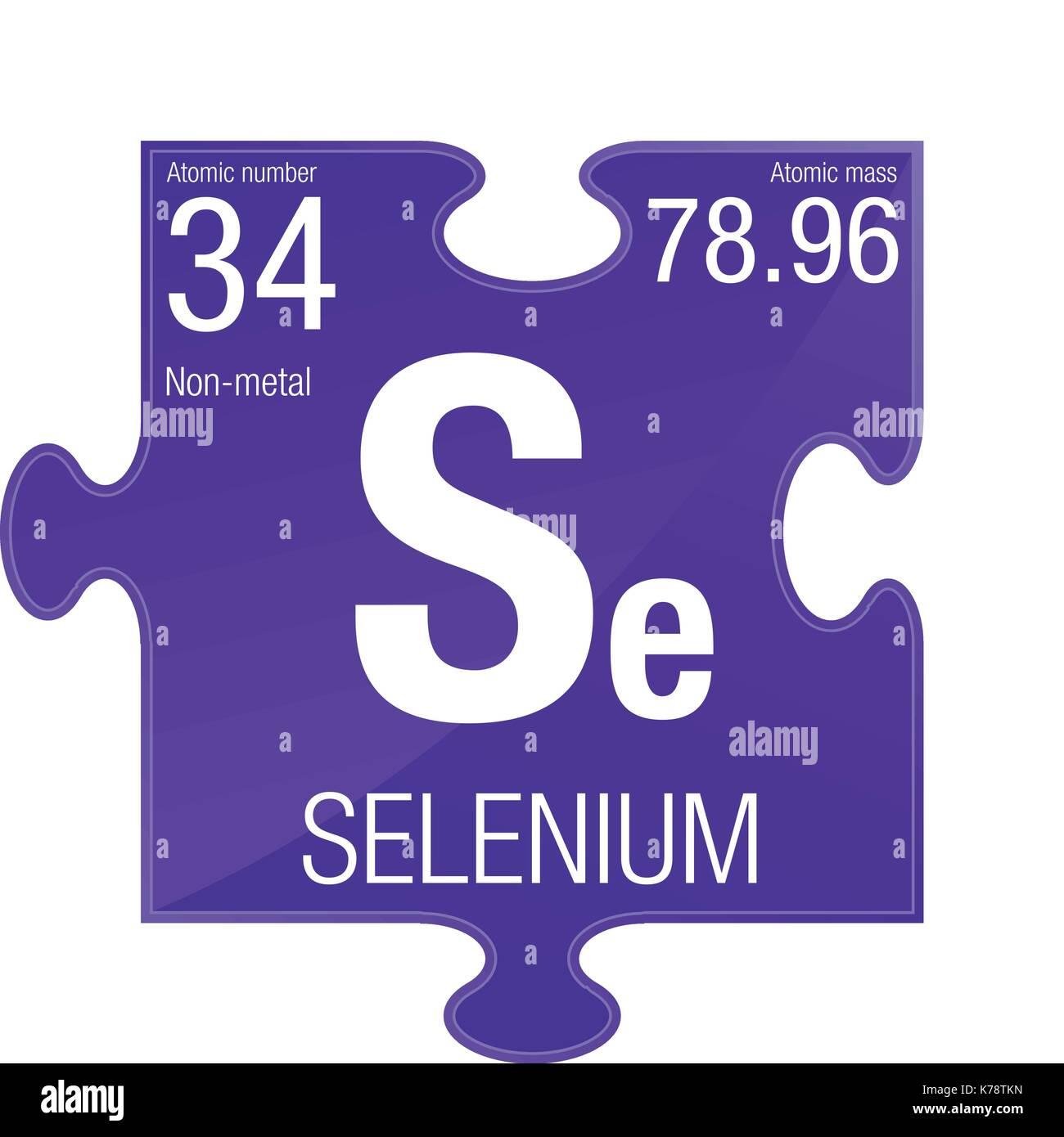 simbolo-di-selenio-elemento-numero-34-de