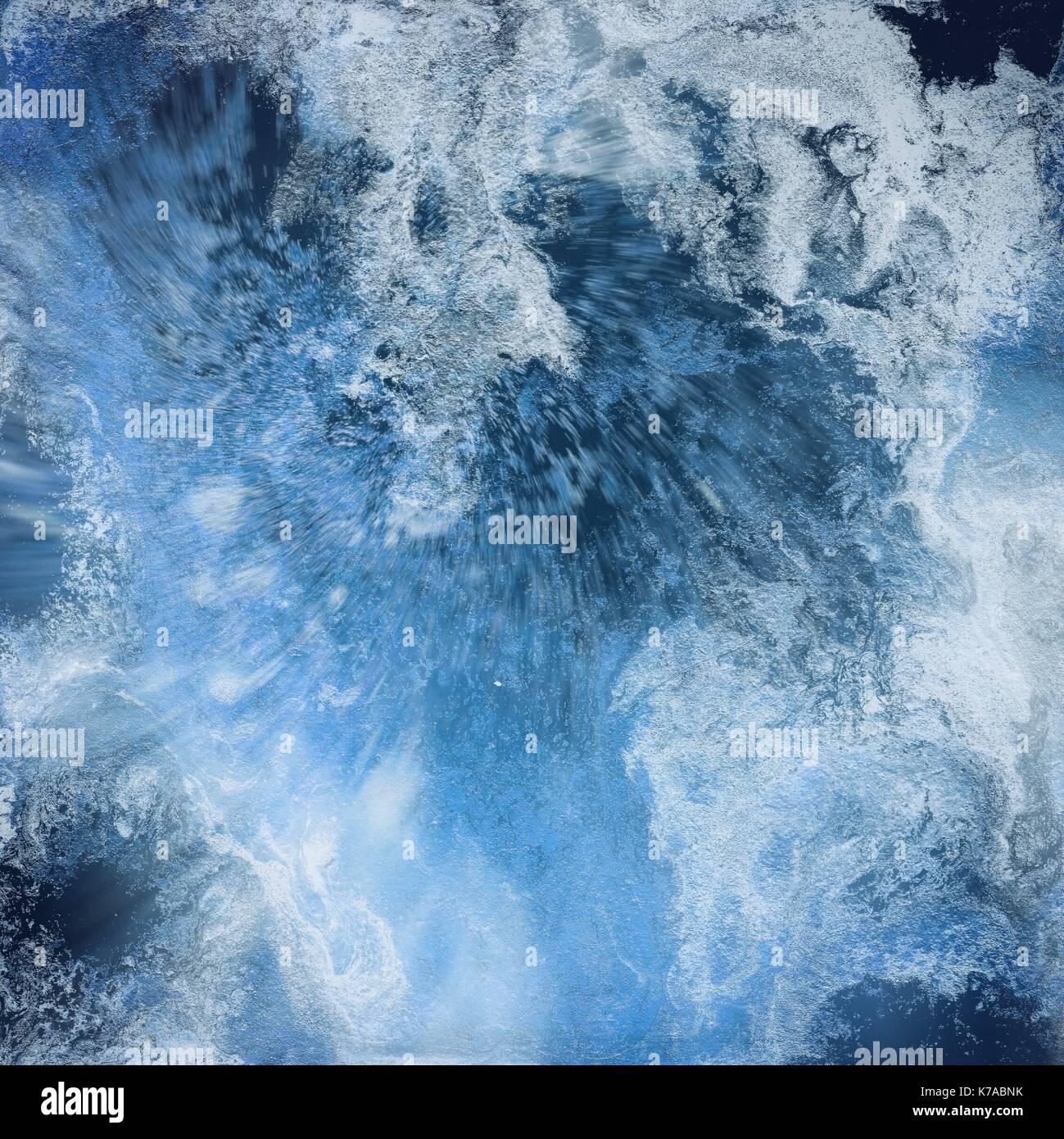 Liquido Astratto Sfondo Blu Pattern Con Abstract Congelato E Onde