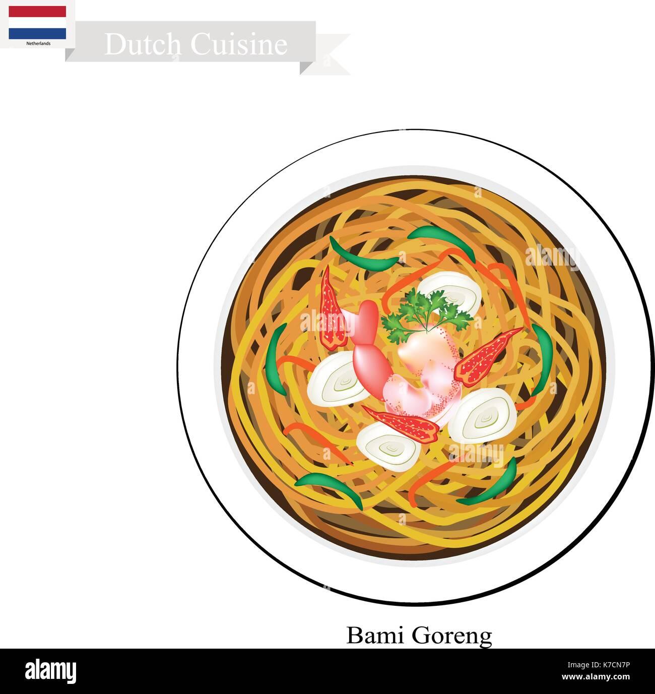 Cucina Olandese Bami Goreng O Tradizionali Noodles Fritti Con