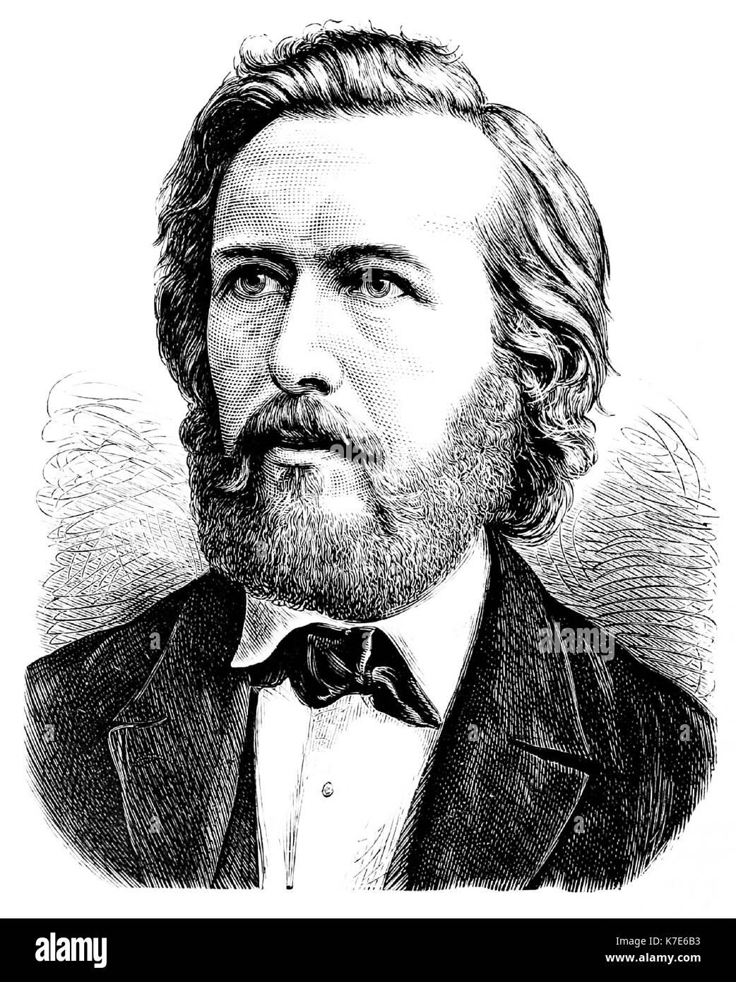 Ernst haeckel (1834-1919) biologo tedesco nel 1860 Immagini Stock