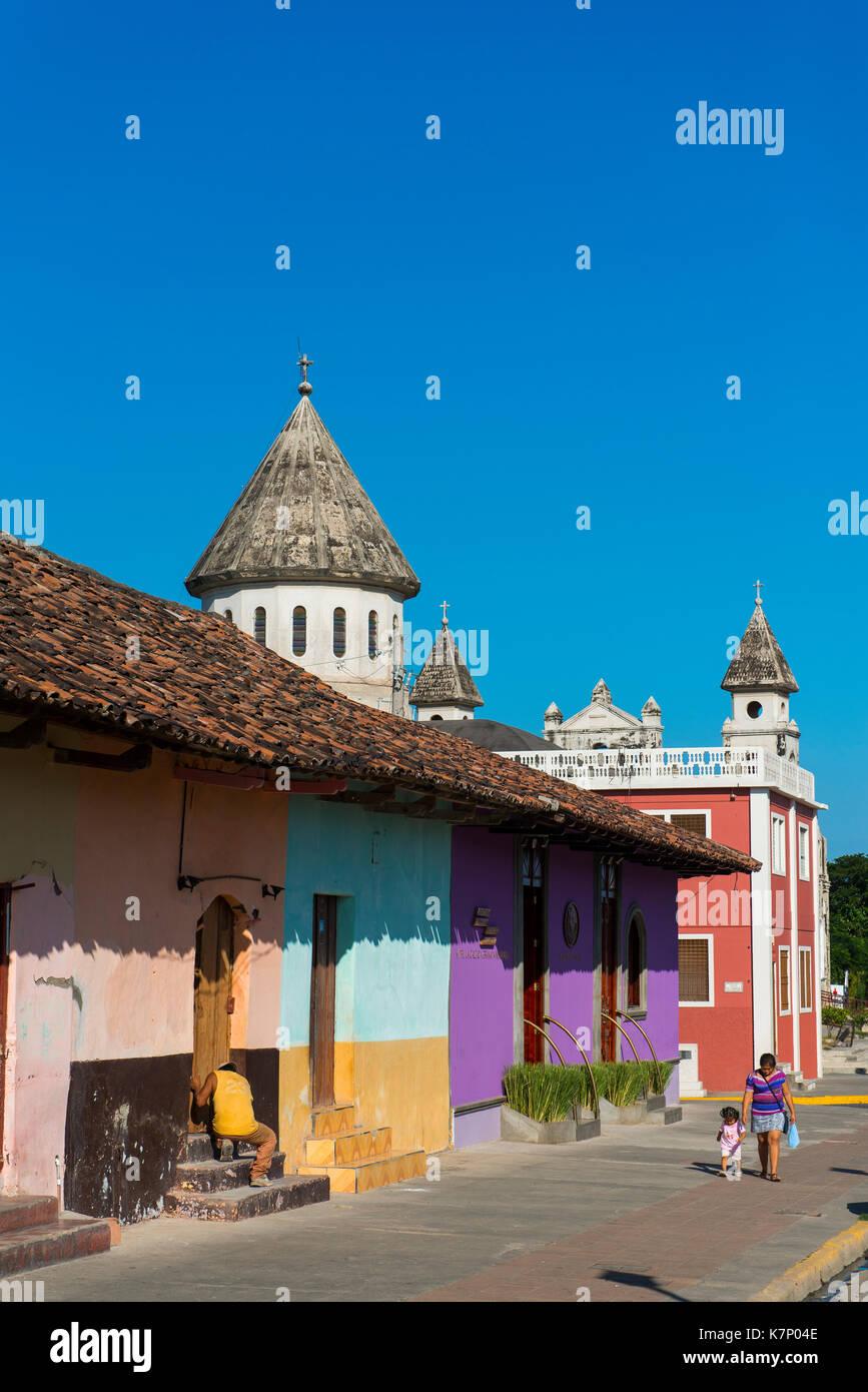 Architettura coloniale, centro storico di Granada, Nicaragua Immagini Stock